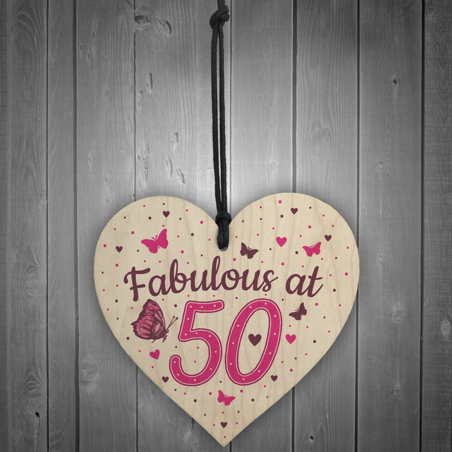 Fabulous At 50 50th 40th 60th Birthday Gifts For Women Men Heart