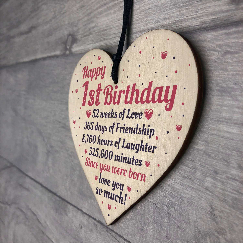 Happy 1st First Birthday Baby Daughter Son Grandson Grandaughter