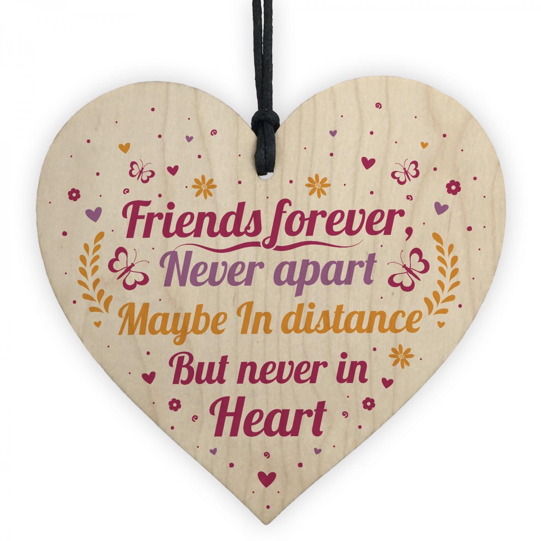 friends forever handmade wood heart sign friendship best