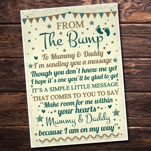Baby Shower Gift Thank You Baby Bump Table Plaque Decoration