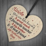 UNCLE Best Friend Gift Wooden Heart Sign Birthday Gift For Uncle