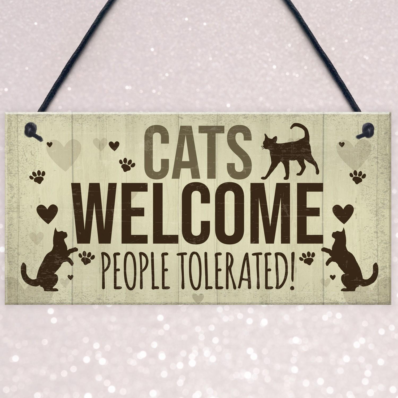 Cat Wooden Heart Plaque Home Plaques Wooden Heart Door Hanging Sign Cat
