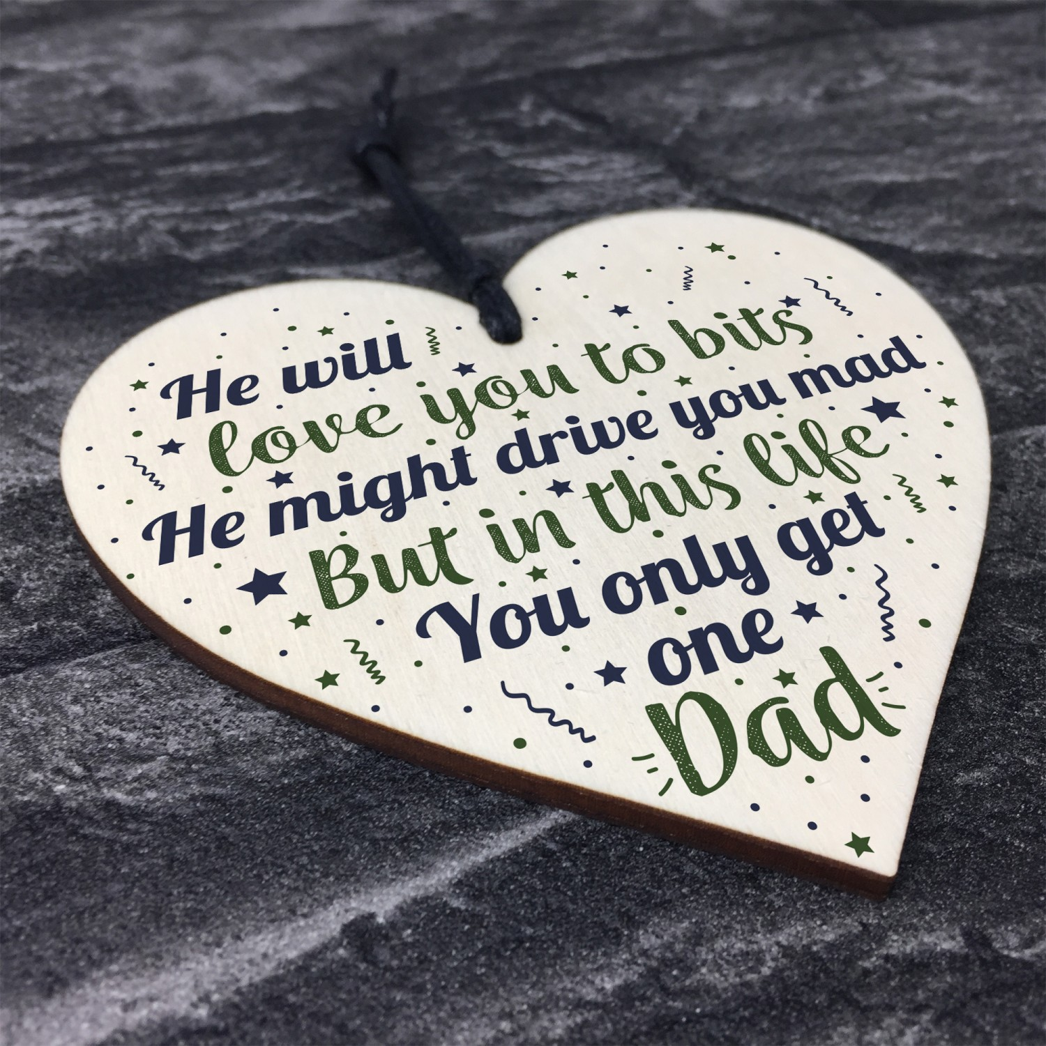 Funny Gifts For Dad Heart Daddy Father Birthday Gift Keepsake