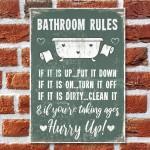 Chic Nautical Bathroom Sign Funny Quirky Toilet Loo Door Plaque
