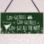 Funny Gin Sign Hanging Plaque Christmas Decoration Xmas Gifts