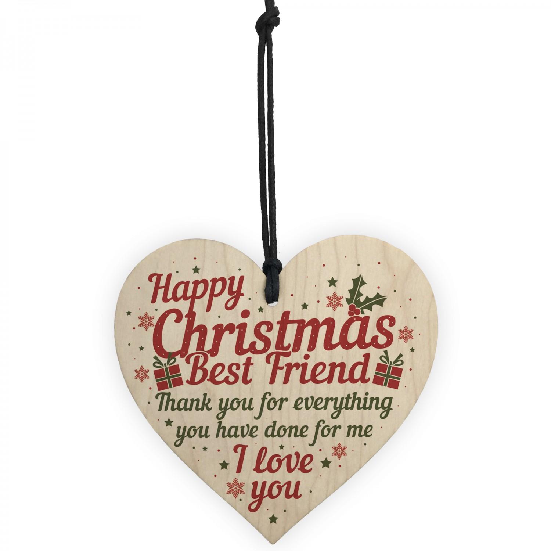best friend christmas card gifts friendship friend wooden