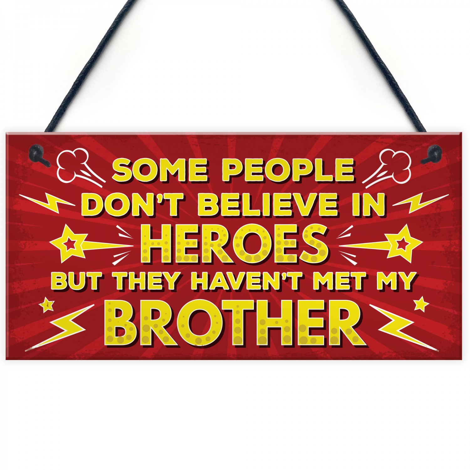 HERO Brother Christmas Birthday Gift Plaque For Big