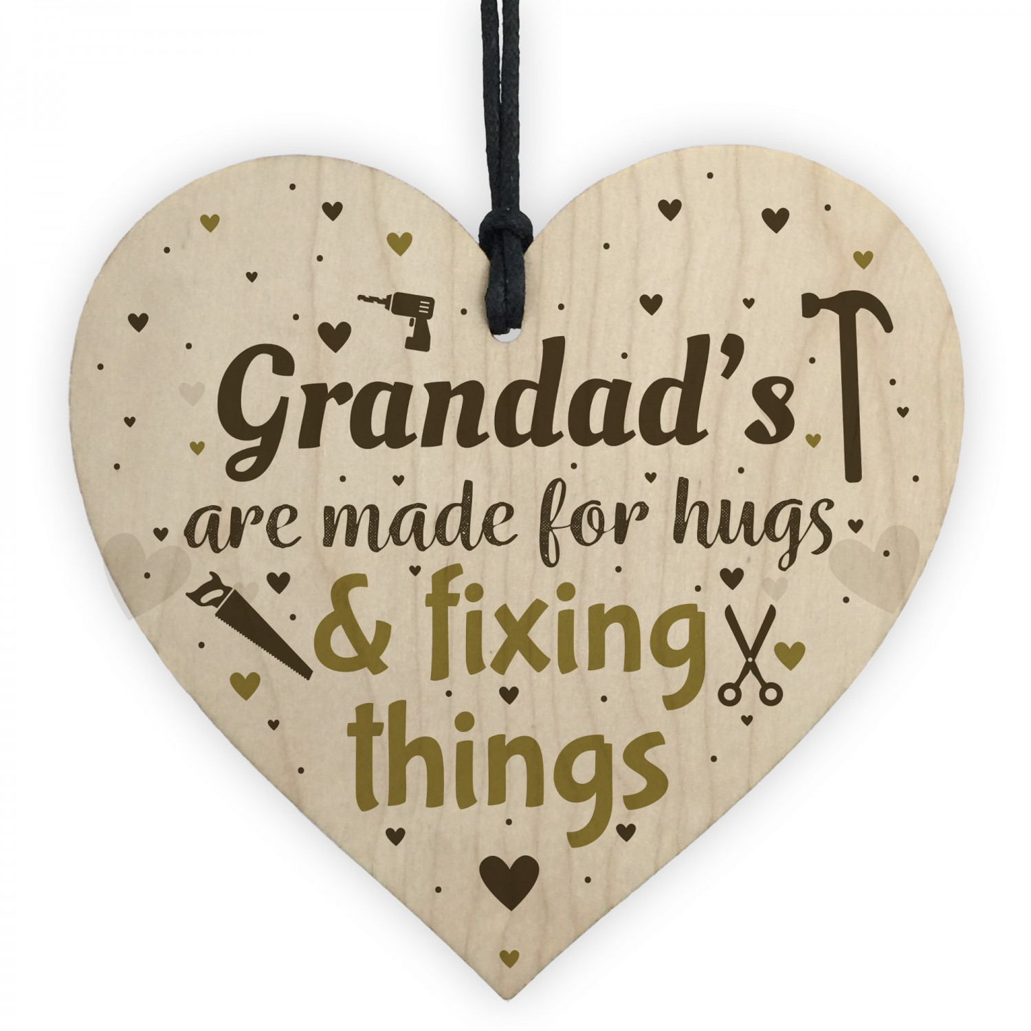 Funny Gift For Grandad Wooden Heart Sign Birthday Christmas Novelty Rude Gifts
