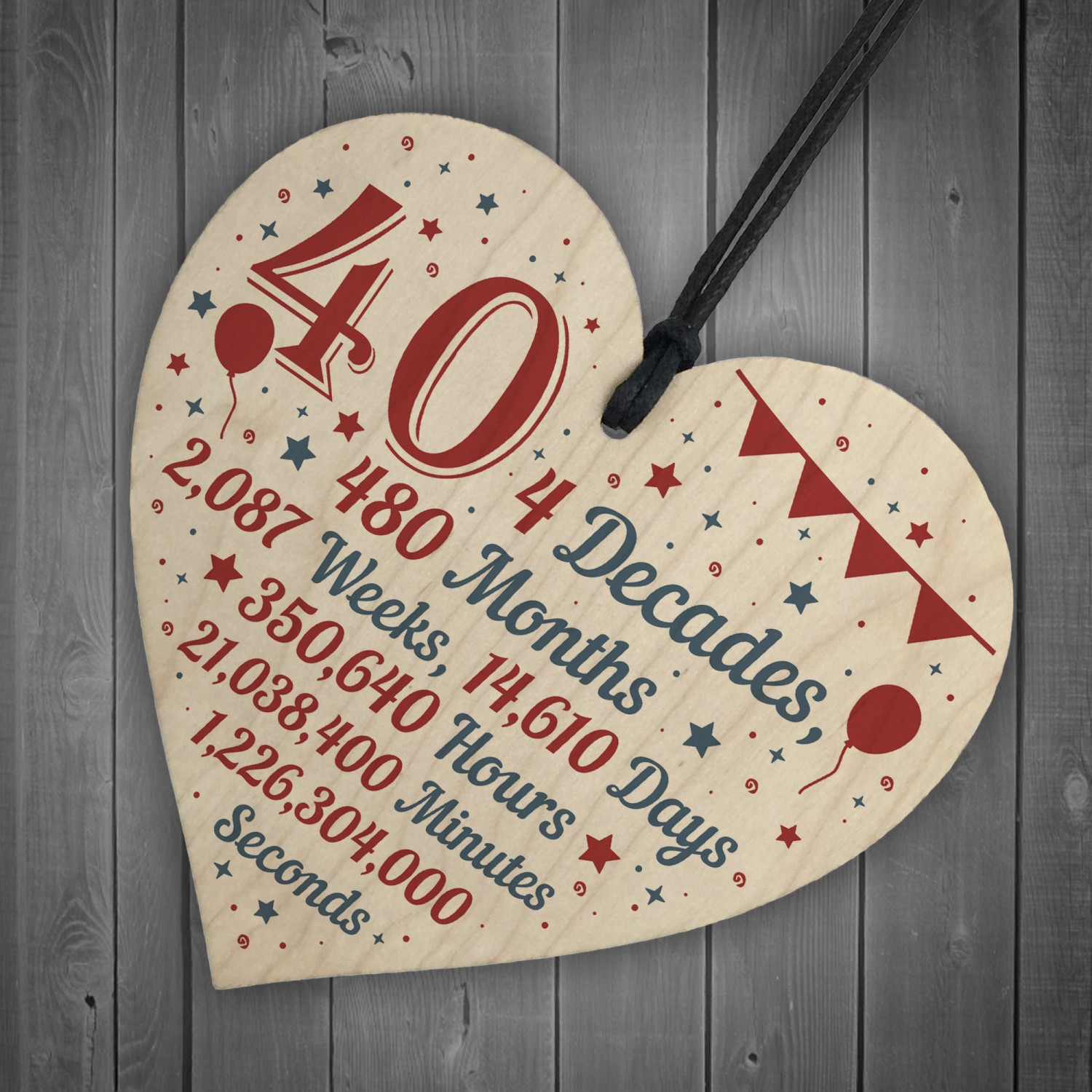 Novelty Funny 40th Birthday Gift For Friend Brother Sister Sign
