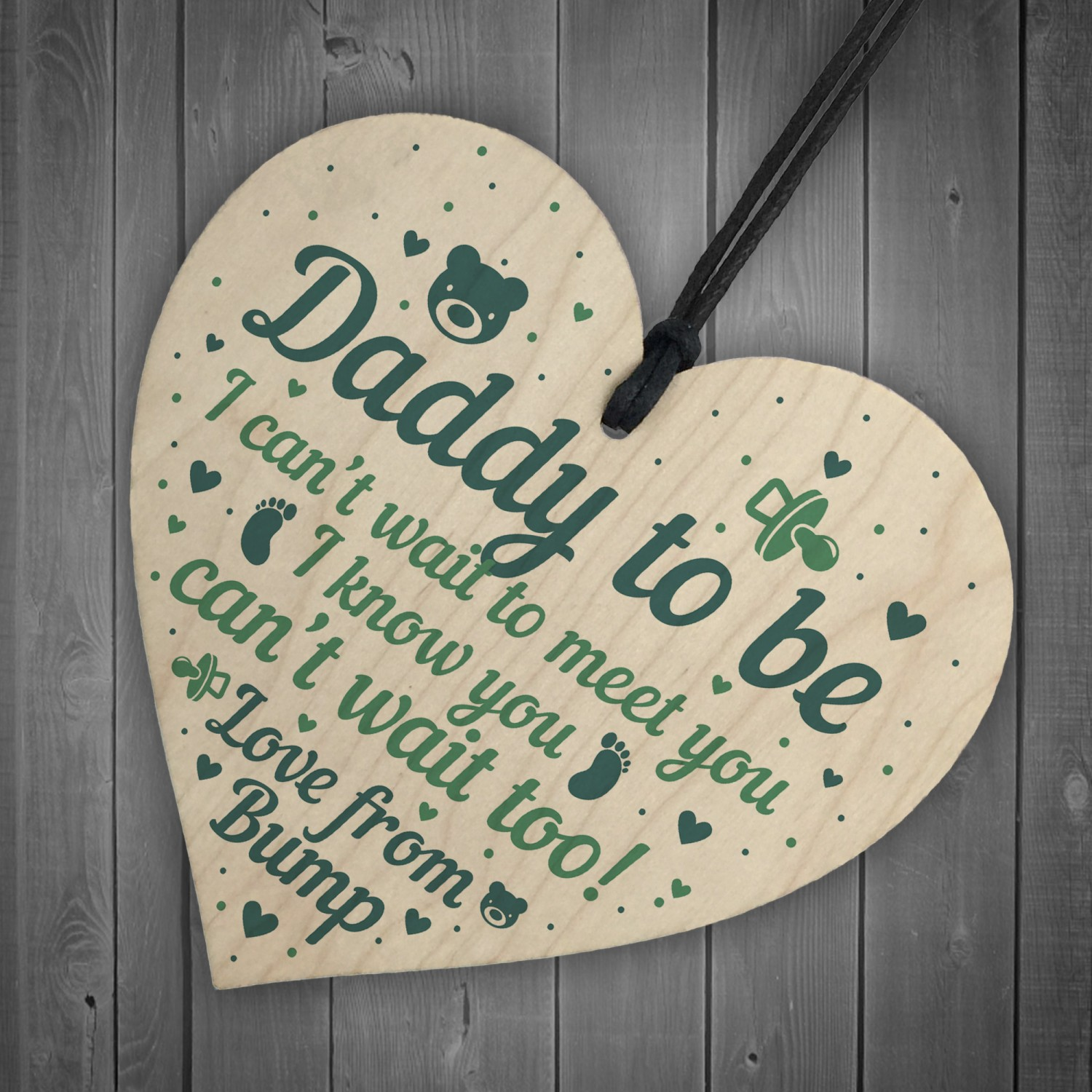 Daddy To Be Gifts Card From Bump Heart Daddy Christmas Presents