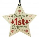 Bumps First Christmas Tree Decoration Bauble Newborn Baby Mum