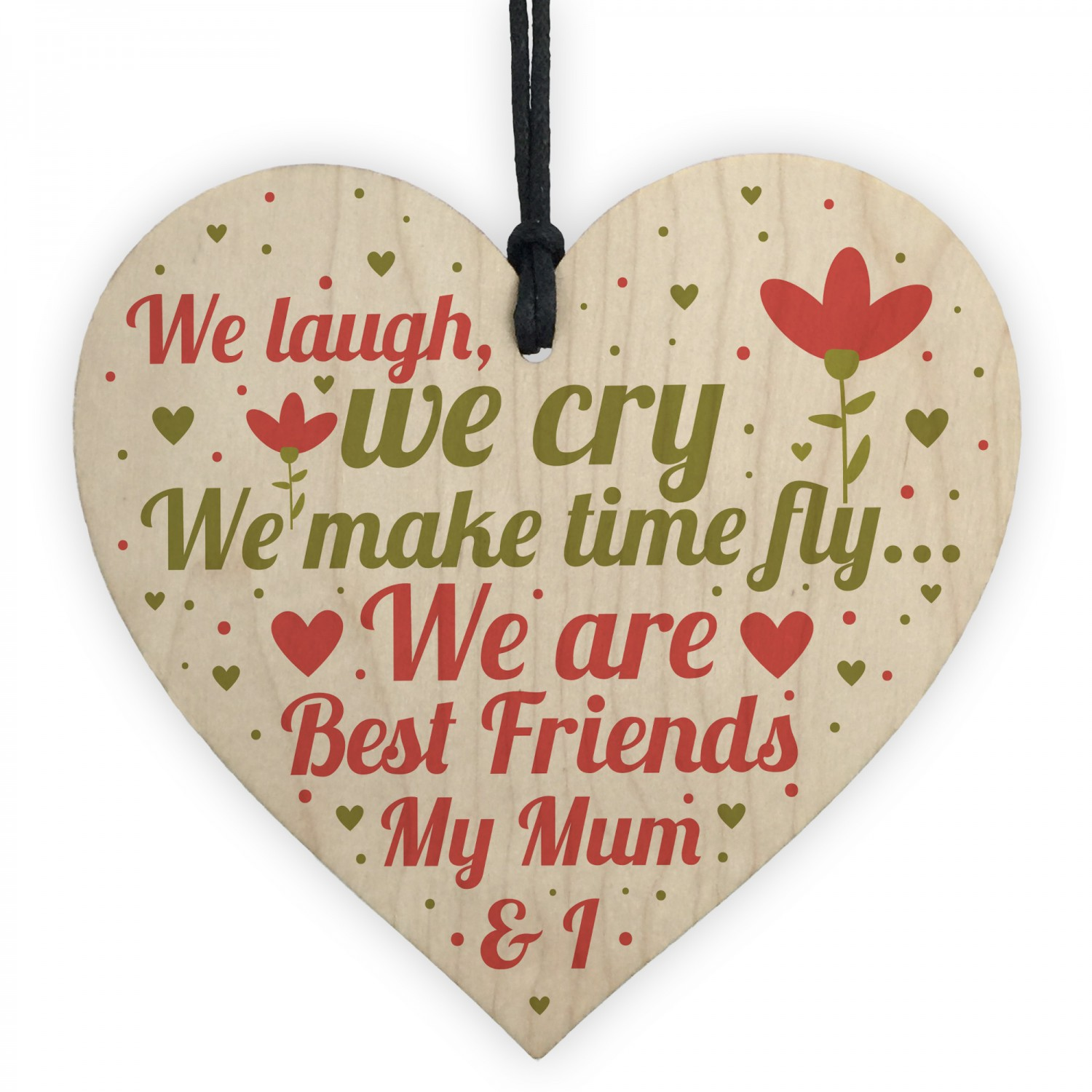 Mum Best Friend Gifts Wooden Heart Sign Christmas Birthday Gift