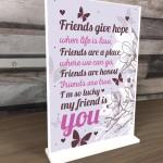 Best Friend Keepsake Friendship Sign Thank You Gift Novelty Sign