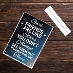 Best Friend Distance Gifts Standing Plaque Novelty Birthday Xmas