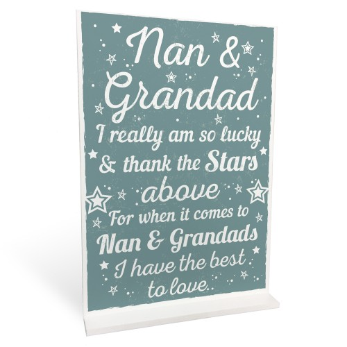 Best Nan And Grandad Gift Home Standing Plaque Grandparent Sign