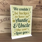Auntie And Uncle Gifts For Christmas Birthday Standing Plaque
