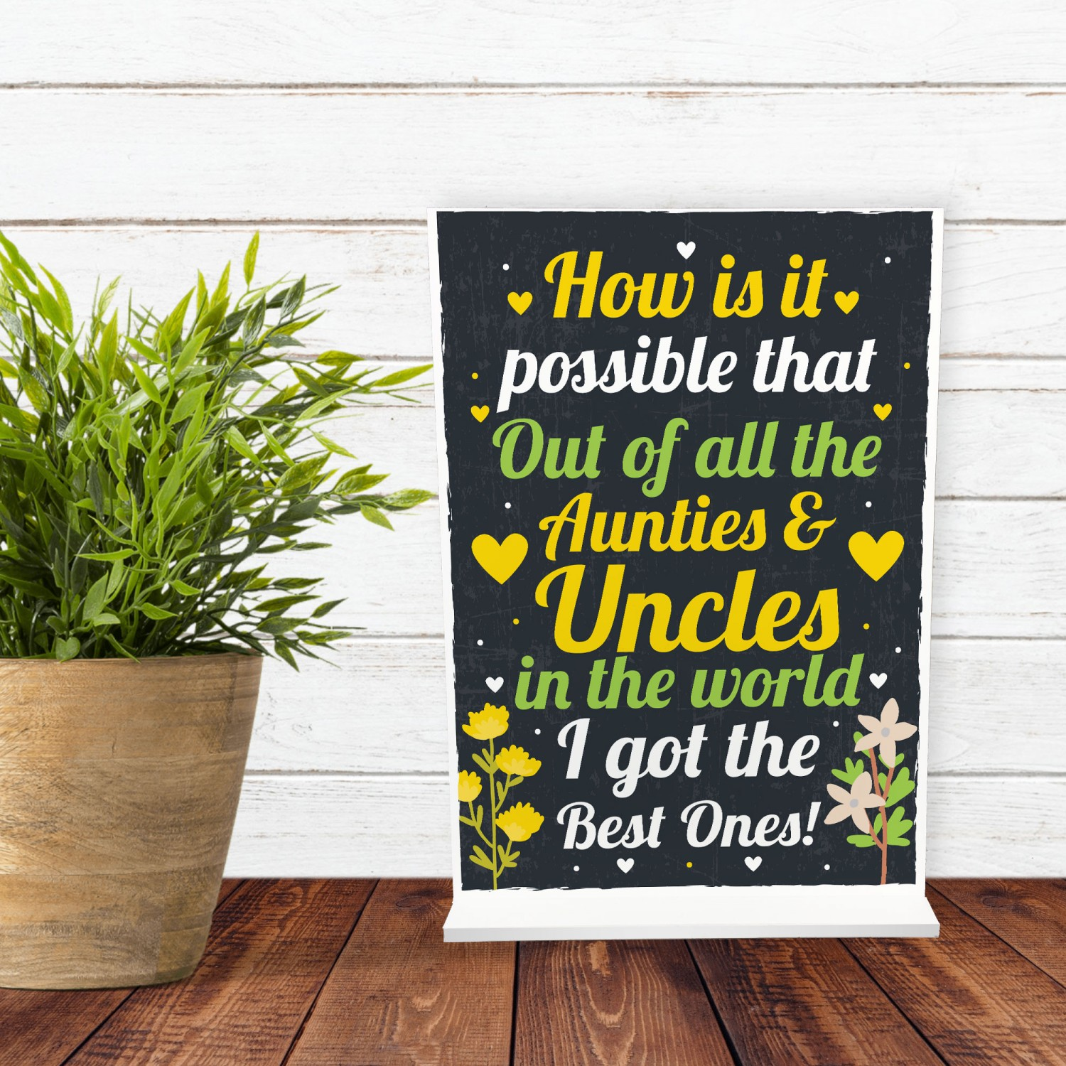 Auntie Uncle Christmas Gift Ideas Standing Plaque Thank You Gift