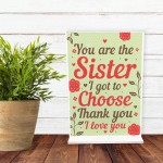 Best FRIEND Sister Gifts Standing Plaque Christmas Friend Gift