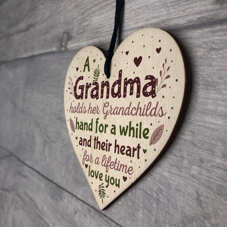 Grandma Keepsake Birthday Christmas Gift From Grandson