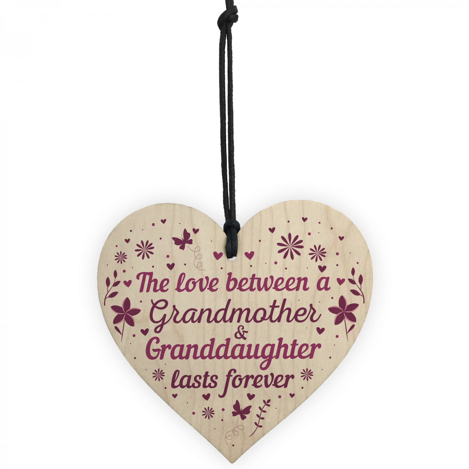 Grandmother And Granddaughter Gifts Nan Grandma Birthday Heart