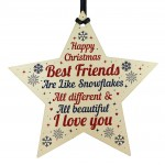 Christmas Gifts For Best Friend Wooden Baubles Tree Decoration