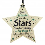 BEST FRIEND Birthday Christmas Keepsake Gift Wood Star Thank You