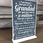 Christmas Birthday Gift For Grandad Grandparents Standing Plaque