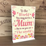 THANK YOU Gift For Mummy Standing Plaque Birthday Christmas Gift