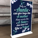 Auntie Friendship Gifts For Christmas Birthday Standing Plaque