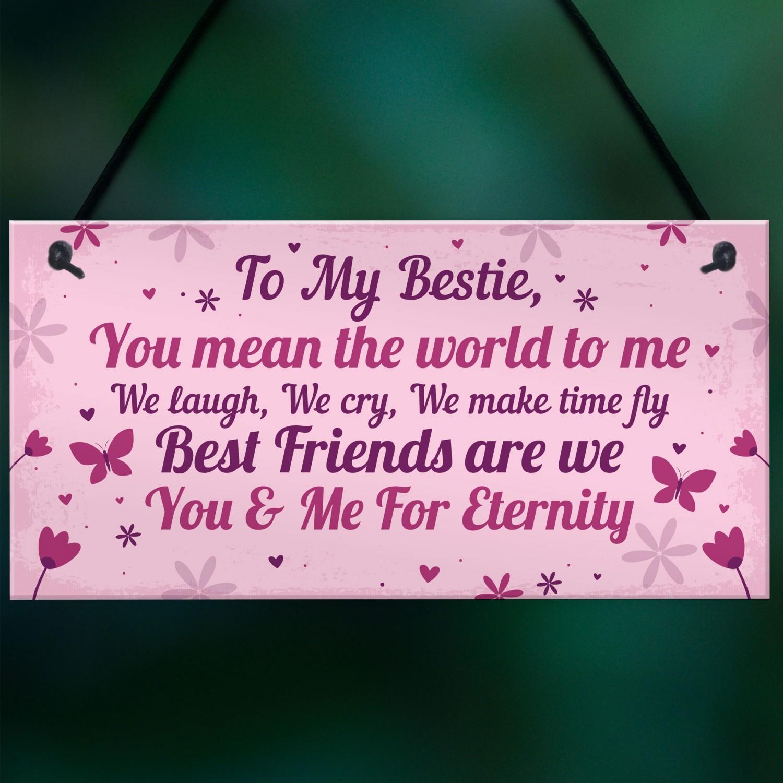 Keepsake Gift For Best Friend Friendship Birthday Plaque