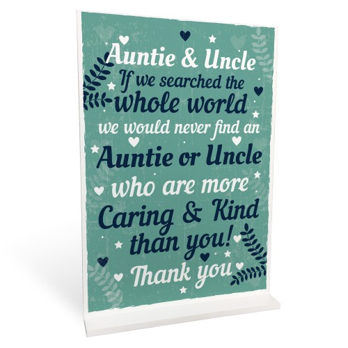 Auntie And Uncle Ornament Christmas Xmas Card Gift From Niece