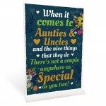 Auntie And Uncle Christmas Birthday Card Gift From Niece Nephew