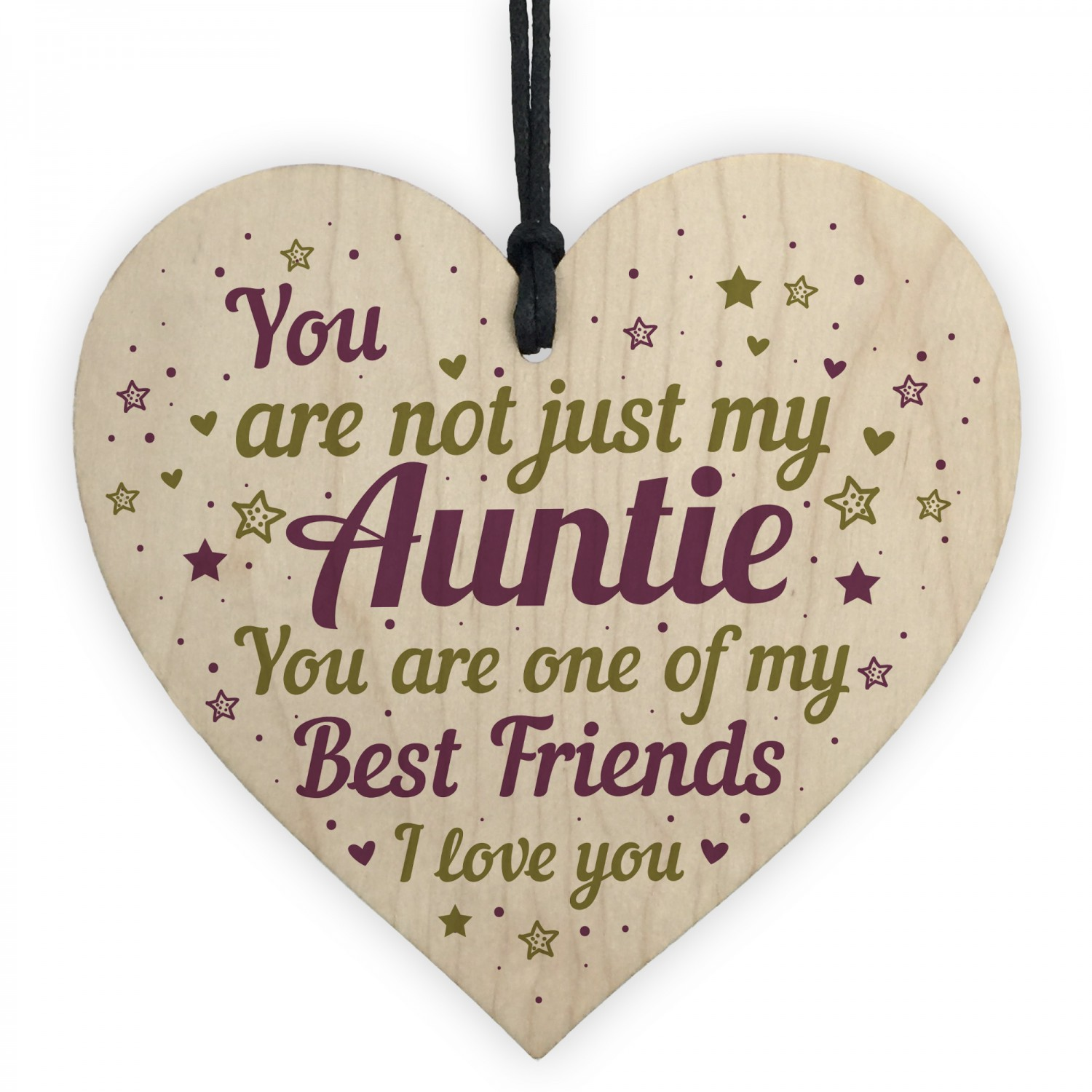 Auntie Birthday Gifts Christmas Wooden Heart Sign