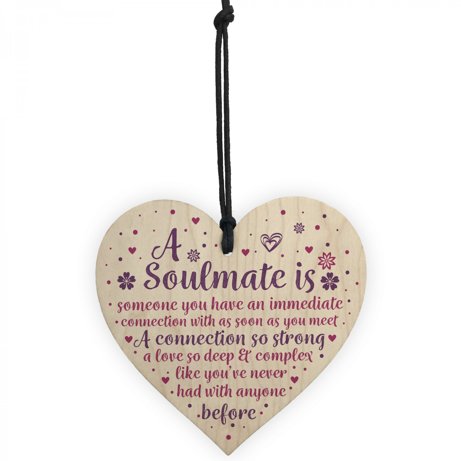 Soulmate Gifts Anniversary Gift For Husband Wife Boyfriend Sign