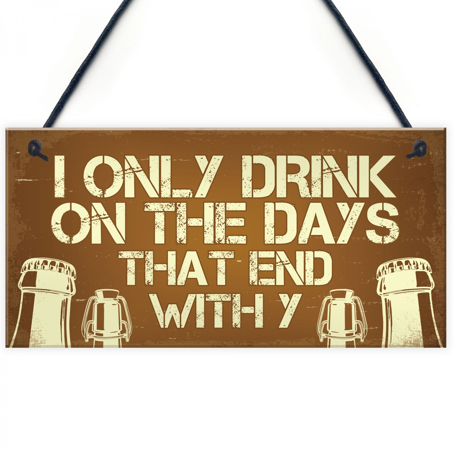 Novelty Bar Sign For Home Funny Alcohol Gift Pub Decor