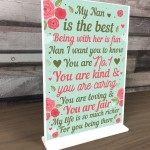 THANK YOU GIFT For Nan Standing Plaque Birthday MOTHERS DAY