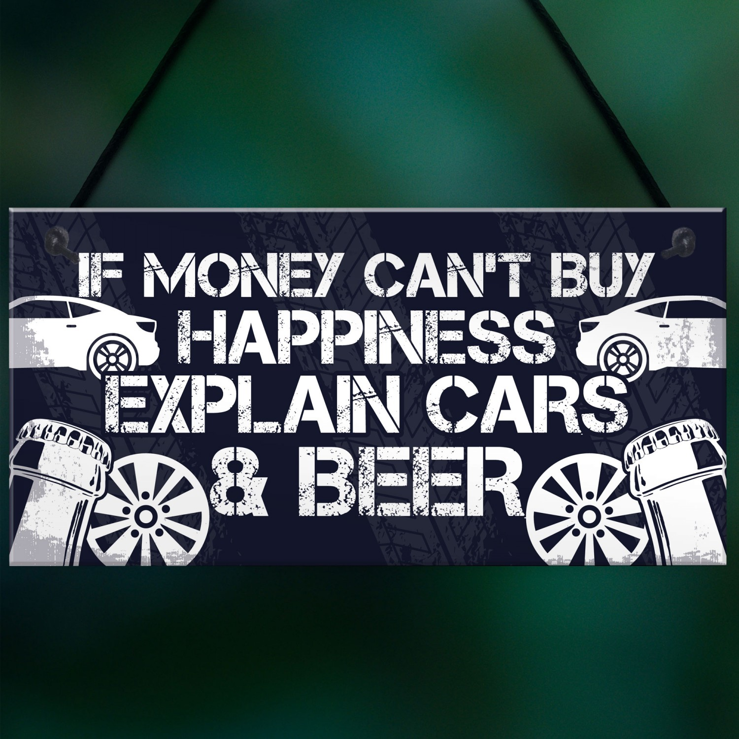 Beer Car Lover Gifts For Men Man Cave Garage Sign Birthday