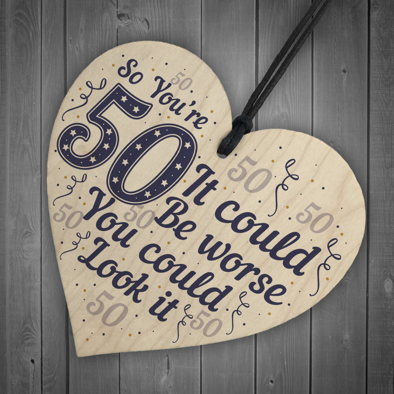50th Birthday Gifts Novelty Wood Sign Funny Present For