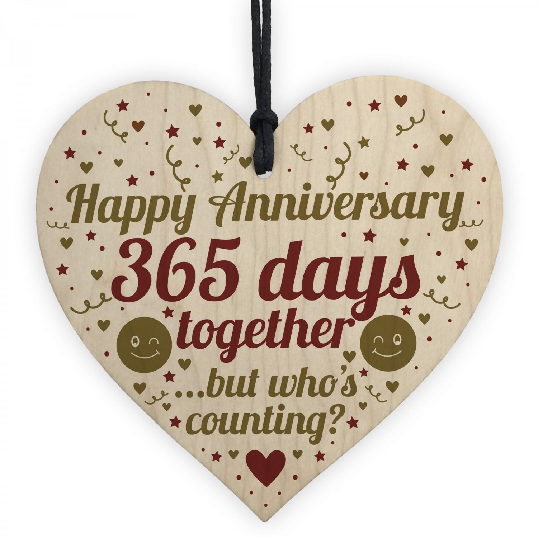 f473e5843f 1st Anniversary Gift For Boyfriend Girlfriend Heart Wife