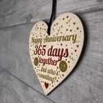 1st Anniversary Gift For Boyfriend Girlfriend Heart Wife