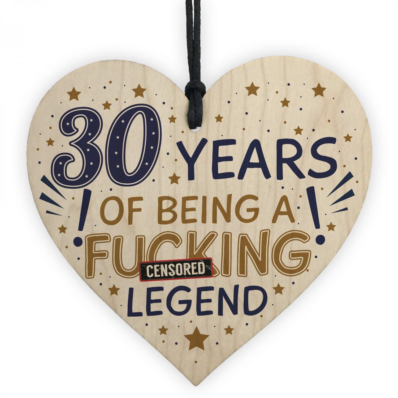 30th Birthday Gifts For Women Men Friend Wood Heart
