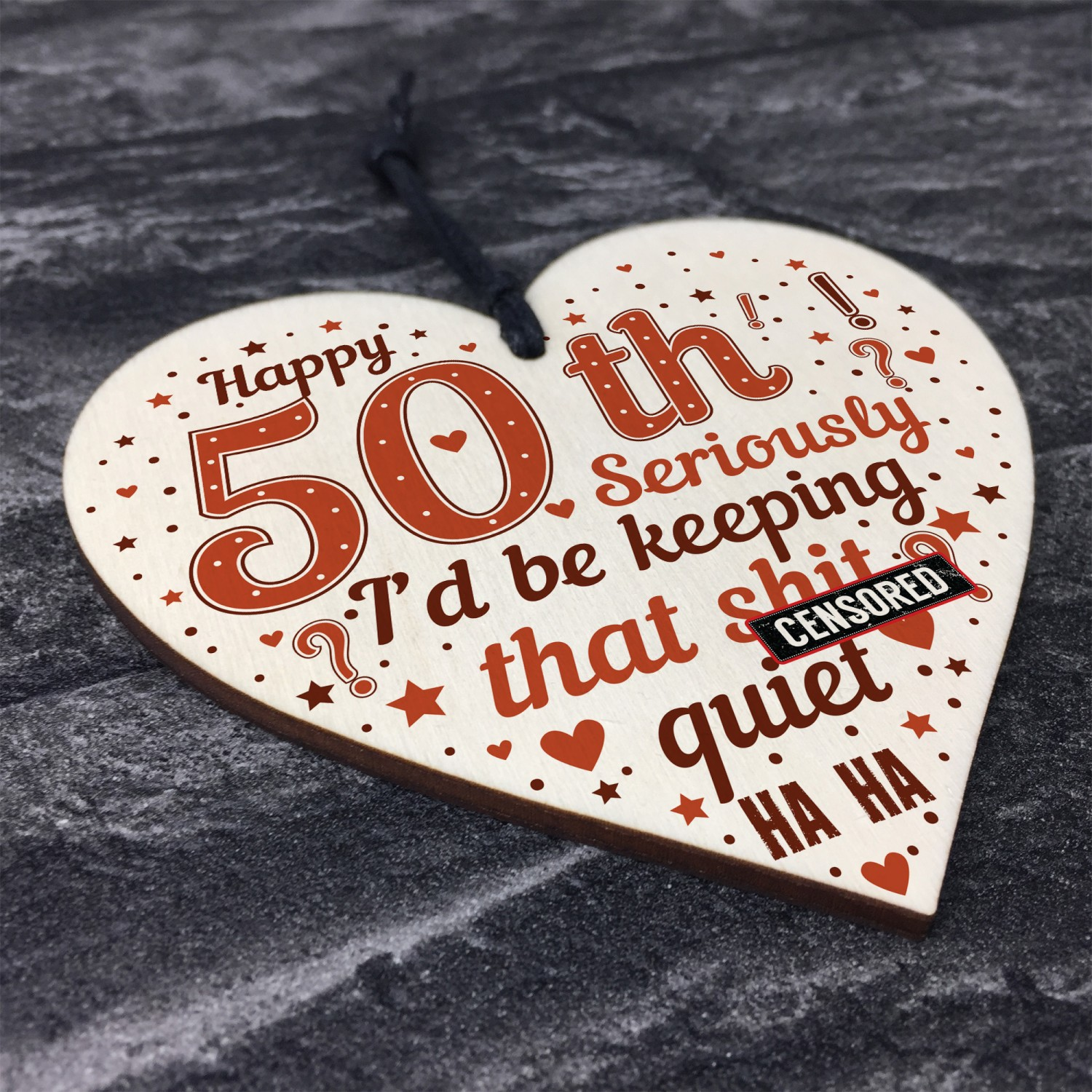 FUNNY 50th Birthday Gifts For Men Women Mum Dad Brother Sister