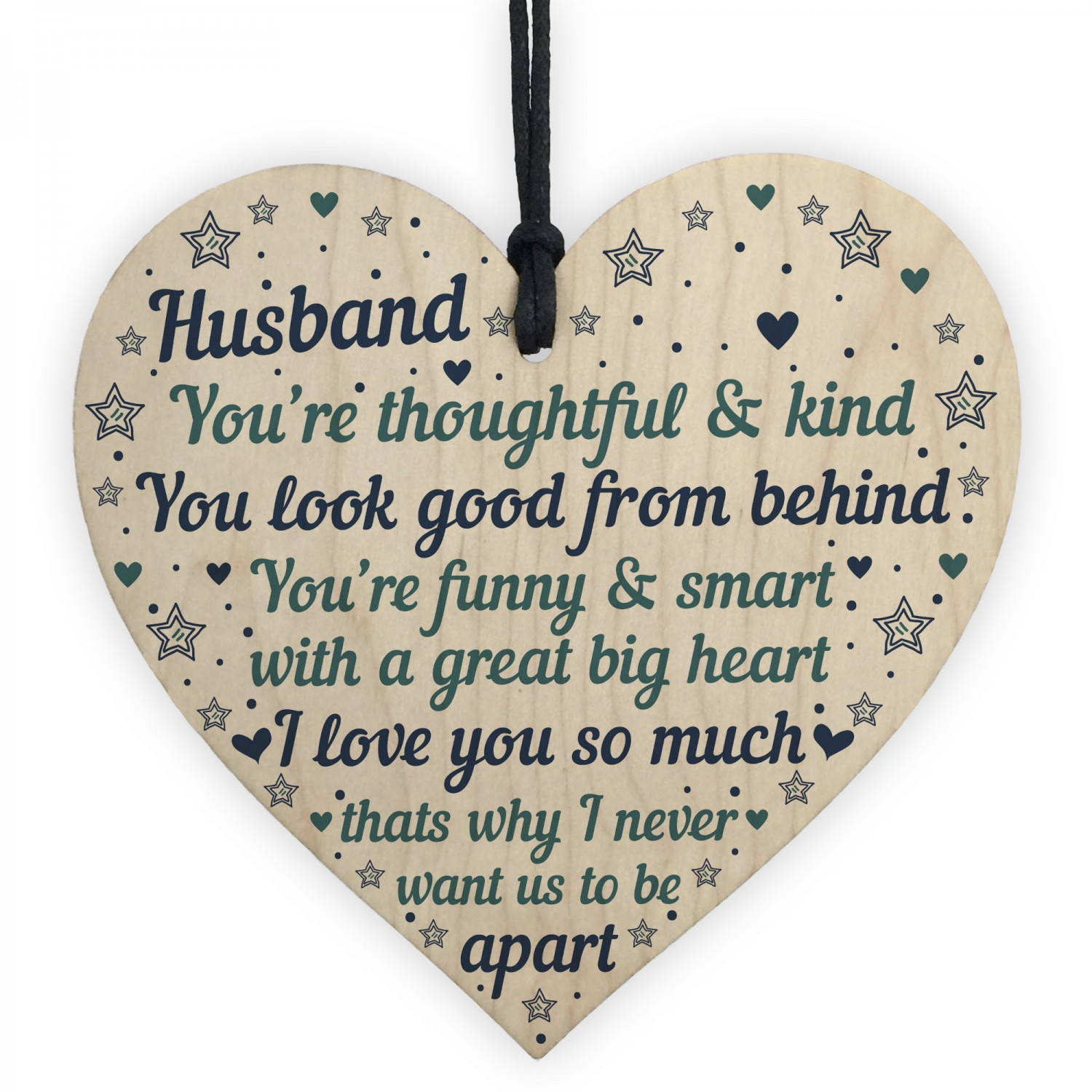 Husband Anniversary Cards Heart Birthday Gift THANK YOU