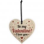 Valentines Wood Hanging Heart Sign Gift For Boyfriend Girlfriend