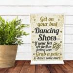 FLIP FLOP BASKET Wedding Sign Dancing Shoes Standing Plaque