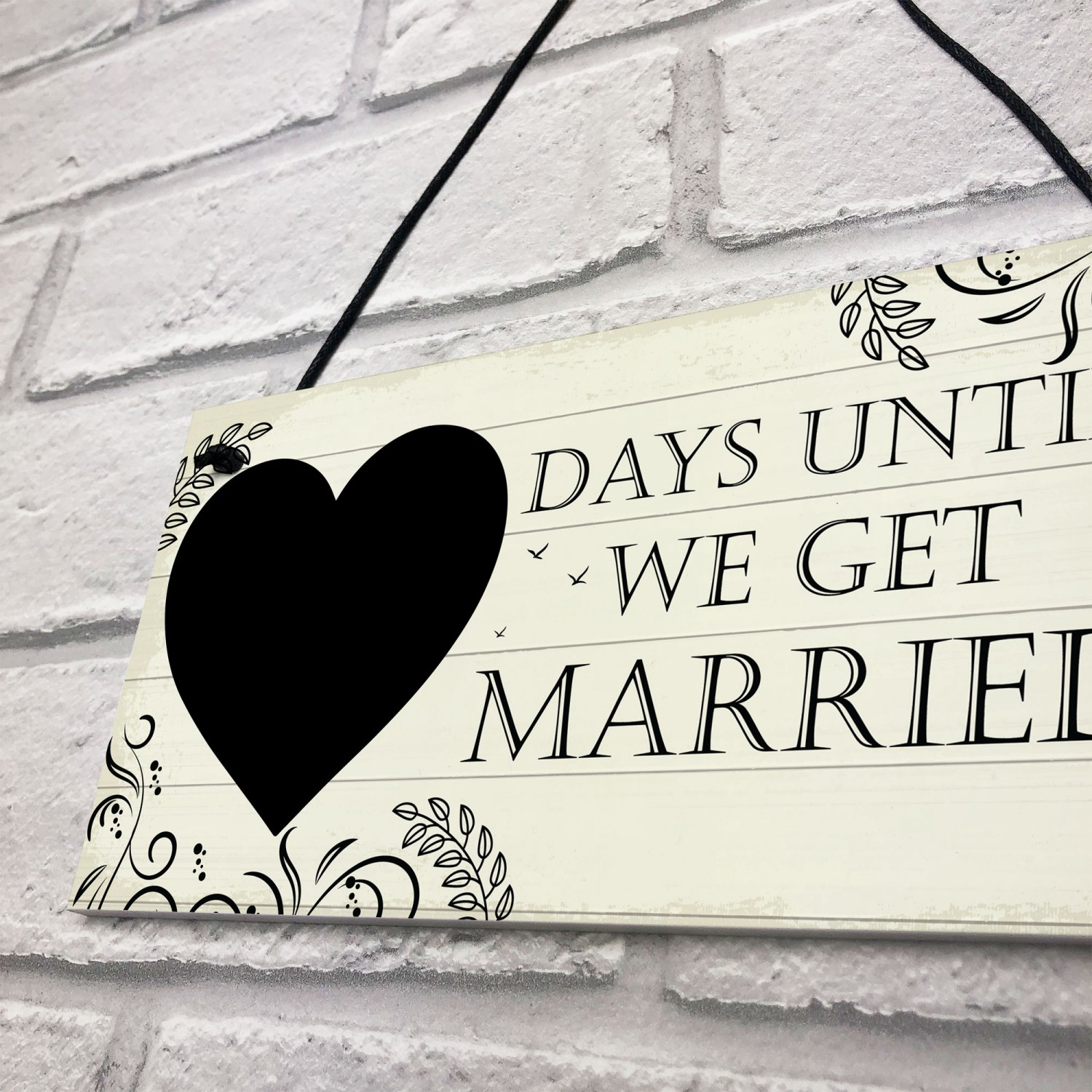 Wedding Countdown Checklist: Wedding Countdown Chalkboard Plaques Sign Engagement Gifts