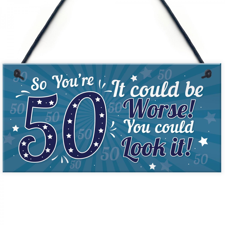 50th Birthday Gift For Men Presents Women Mum Dad