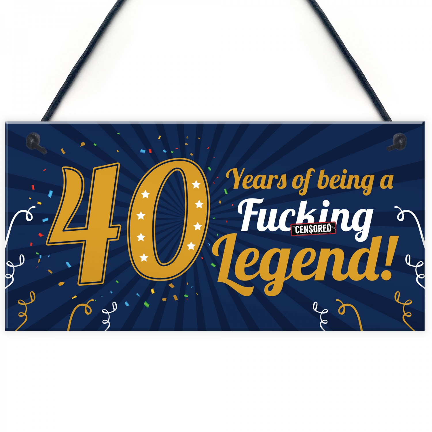 Funny 40th Birthday Present For Men Women 50th Card