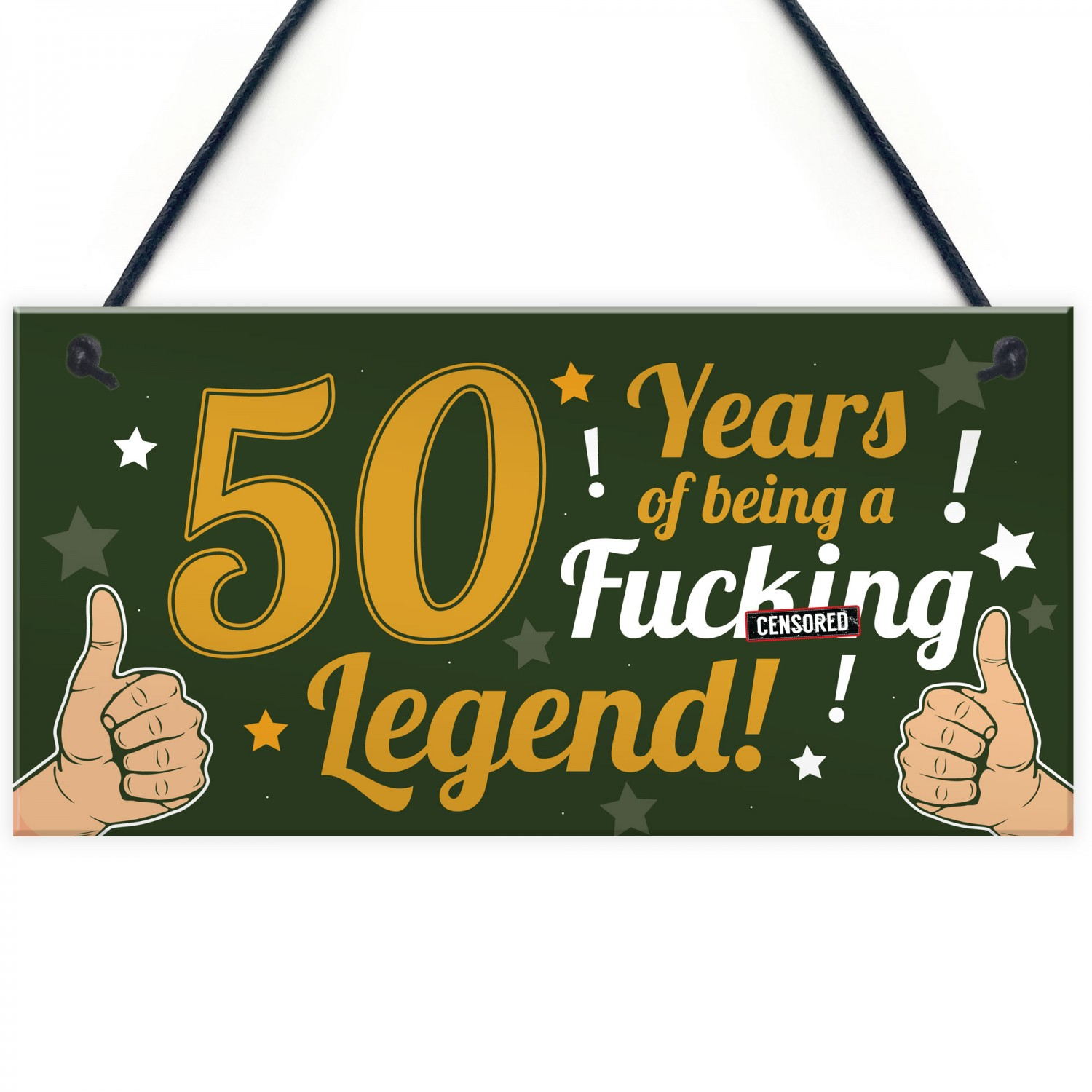 Funny 50th Birthday Present For Men Women Card