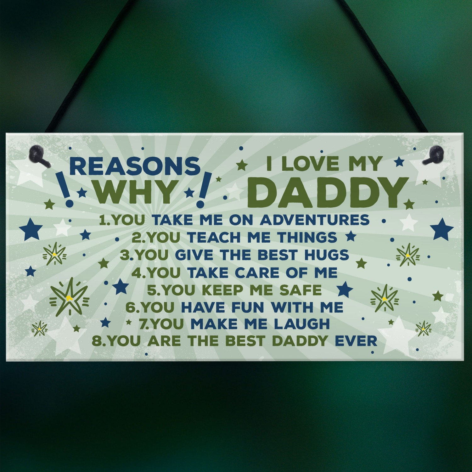 Daddy Gifts Birthday FATHERS DAY Gift Plaque Sign